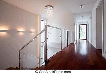 明亮, 走廊, 在中, 奢侈, 住处