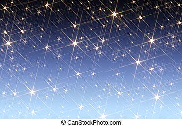 星が多い空, 背景