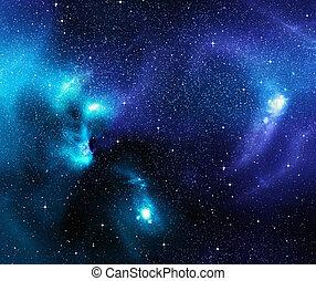 星が多い, スペース, 背景, 海原, 外の