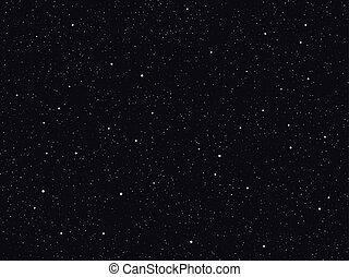 星が多い, ベクトル, 空, 背景, 夜