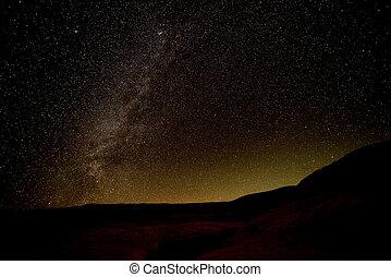 星が多い, 夜, 明るい