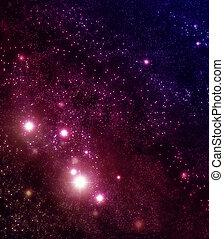 星が多い, 背景, の, 星, そして, 星雲, 中に, 海原, 外宇宙