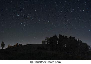 星が多い, 落ち着いた, 夜