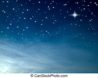 星が多い, nignt