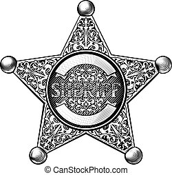 星のバッジ, 保安官