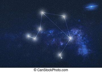 星座, スペース, 外の, 天秤座