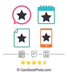 星座, icon., お気に入り, button., navigation.