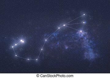星座, scorpio, スペース, 外の
