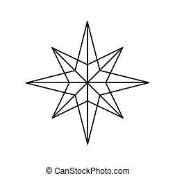 星形, シンボル。, アウトライン