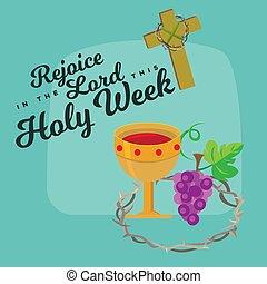 星期, 建立, christ, 他的, 持續, 神圣, 拘捕, 圣禮, 插圖, 耶穌, 預先, 矢量, 共享, 星期四, 晚飯, maundy, 在十字架上釘死