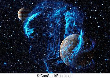 星雲, そして, 惑星, 中に, 外の, space., 要素, の, これ, イメージ, 供給される, によって, nasa