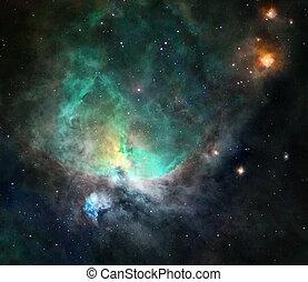 星雲, 海原, スペース