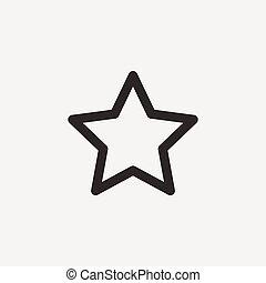 星, アウトライン, アイコン
