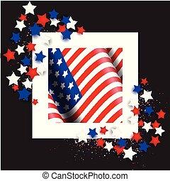 星, アメリカの旗, 第4, 背景, 7月, 日, 独立