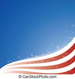 星, アメリカ, ライト, 旗, ベクトル, 背景