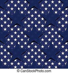 星, パターン, アメリカ人, theme., seamless, 旗, vector., 株