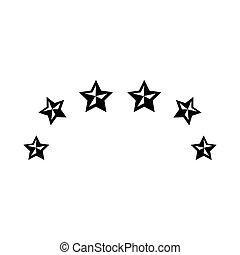 星, フレーム, 隔離された, アイコン