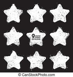 星, ベクトル, グランジ