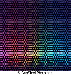 星, ライト, 抽象的, ディスコ, バックグラウンド。, 多色刷り, vector., ピクセル, モザイク