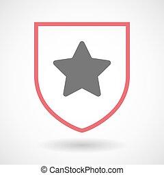 星, 保護, 隔離された, 芸術, 線, アイコン