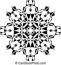 星, 保護, tridimensional, アラベスク, pseudo, 5, 背景, 透明