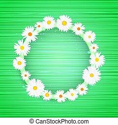星, 光, 光, 框架, 影響, 背景。, 明亮, 矢量, 綠色, 樣板, glitter., 植物群的旗幟, 輪, 發光