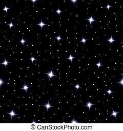 星, 天, 光っていること, seamless, 背景