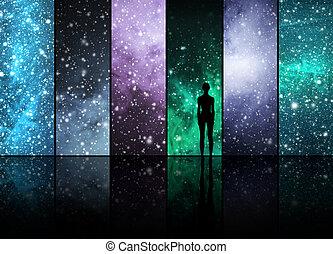 星, 惑星, 星座, 宇宙, 人間