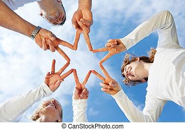 星, 手指, 家庭, 形成