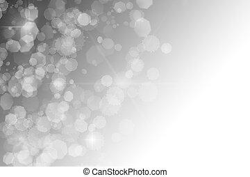星, 抽象的, bokeh, 黒い背景, きらめく, 白