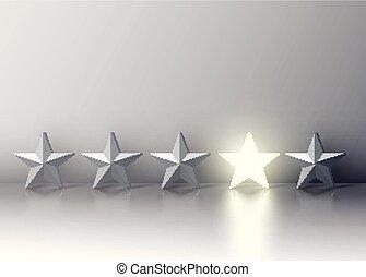 星, 群集, 一人一人, 灰色, イラスト, 白熱, ベクトル, 立場