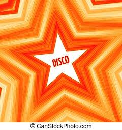 星, 背景, ディスコ
