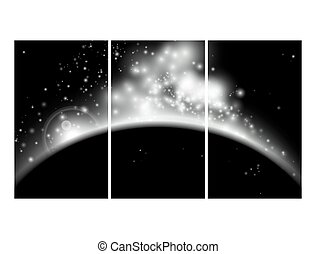星, 背景, 夜