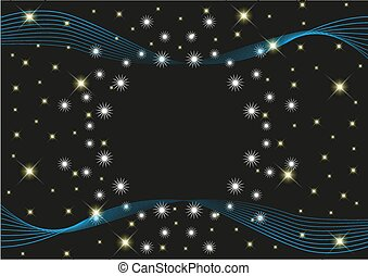 星, 背景, 空間