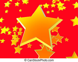 星, 背景, 2