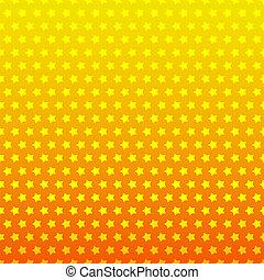 星, 色, seamless, 黄色, バックグラウンド。, オレンジ
