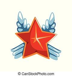 星, 賞, ベクトル, イラスト, 背景, 白い赤