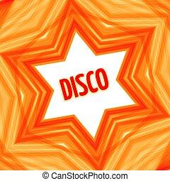 星, 赤い背景, ディスコ