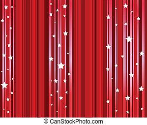 星, 赤い背景