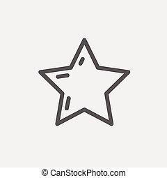 星, 選択, 薄いライン, ∥あるいは∥, 最も良く, アイコン