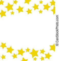 星, 邊框, 金, 贏得