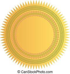 星, 金のシール