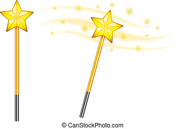 星, 魔法の 細い棒