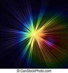 星, 鮮艷, 摘要, 閃爍, light., 爆炸