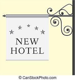 星, 5, 看板, ホテル