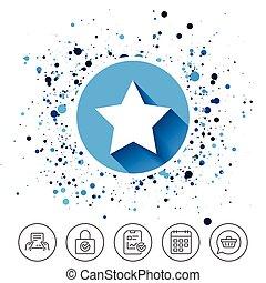 星, navigation., お気に入り, button., 印, icon.