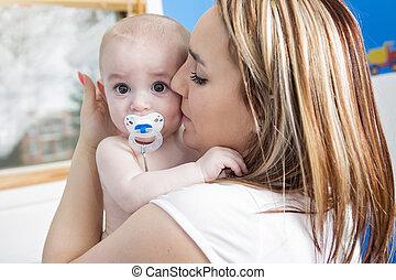 映像, の, 幸せ, 母, ∥で∥, 愛らしい, 赤ん坊
