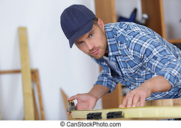 映像, の, 若者, 仕事, ∥ように∥, 大工, そして, 測定, 板