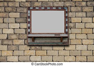 映像, グランジ, 壁フレーム, room., 置かれた
