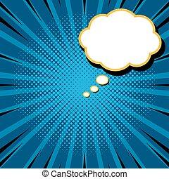 映像, スタイル, テンプレート, ポスター, 型, 下に, 場所, 背景, テキスト, 漫画, 雲